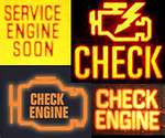 Picture of different check engine lights